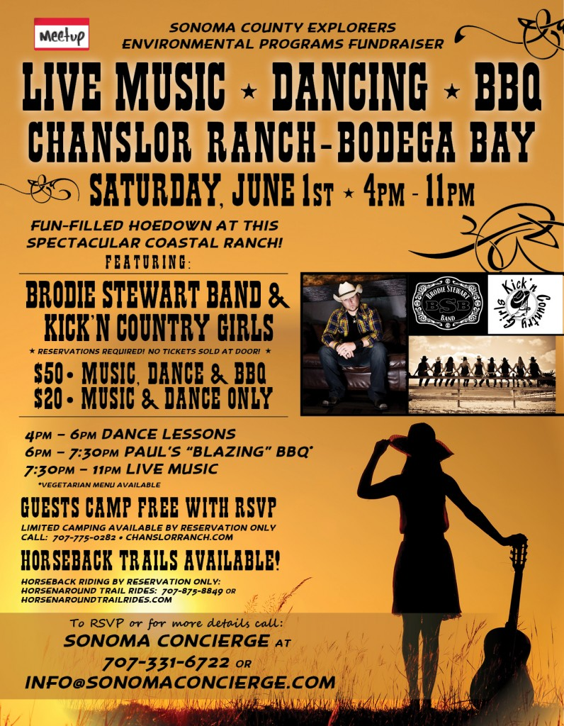Dance, BBQ, Camping, Live Music, Chanslor Ranch 6-1-13