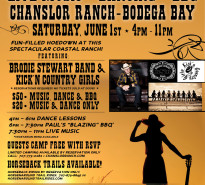 Dance, BBQ, Camping, Live Music Chanslor Ranch 6-1-13